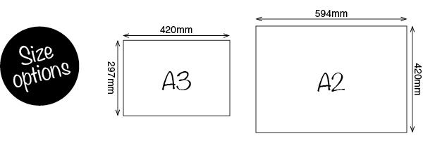 A3, A2 Sizes