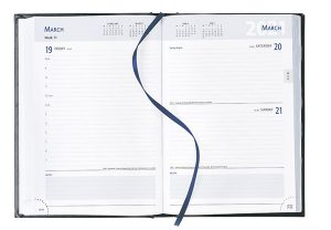 A5 Page a Day Diary White Pages 2021