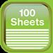 100 sheets