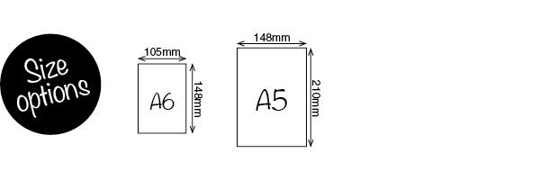 A6, A5 Sizes