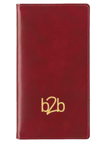 Classic Deluxe Wallet Diary - Burgundy, 2022