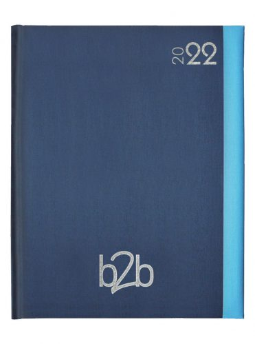 Duo Management Desk Diary - Week to View Diary - White Pages - Blue-Blue, 2022