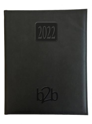 Rio Management Desk Diary - Week to View Diary - White Pages - Black, 2022