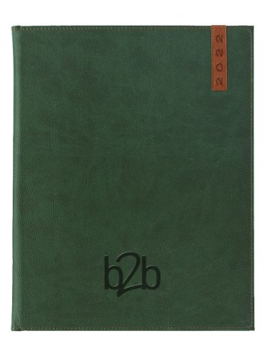 Santiago Management Desk Diary - Week to View Diary - Cream Pages - Green-Tan, 2022