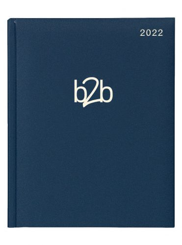 Matanza Management Desk Diary - Week to View Diary - White Pages - Blue, 2022